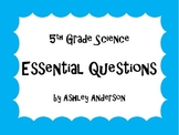 Essential Questions - 5th Grade Science posters