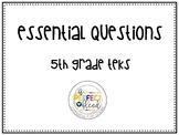 Essential Questions 5th grade math