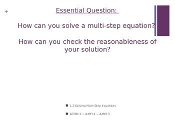 Essential Questions Big Ideas PURPLE Powerpoint