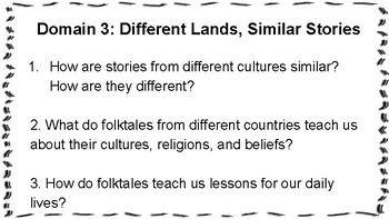 Essential Questions CKLA Grade 1, Domain 3