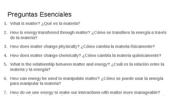 Essential Questions Cake Walk Lesson Spanish Slideshow