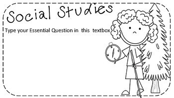 Essential Questions Camping EDITABLE Template