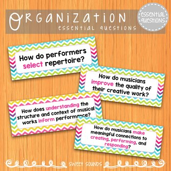 Essential Questions {EQ's for the Music Room}
