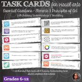 Essential Questions & Elements & Principles of art Task Cards