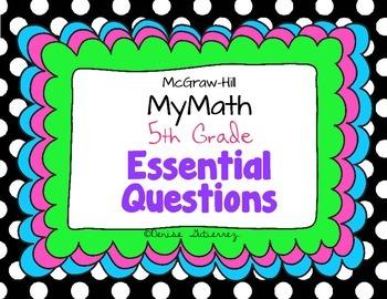Essential Questions Fifth Grade McGraw-Hill MyMath