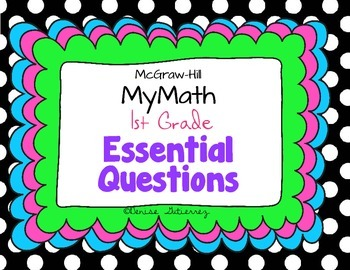 Essential Questions First Grade McGraw-Hill My Math