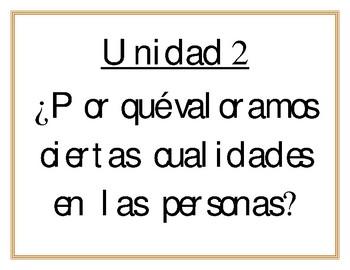 Essential Questions Units 1-10 (Spanish) Grade 5-Benchmark Adelante