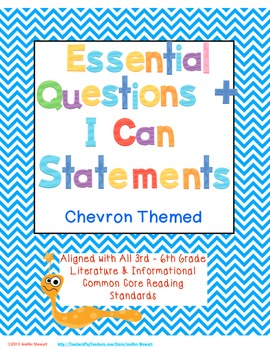 Essential Questions & I Can Statements for 3rd-6th Grade - Chevron