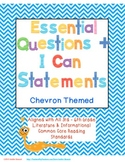 Essential Questions & I Can Statements for 3rd-6th Grade -