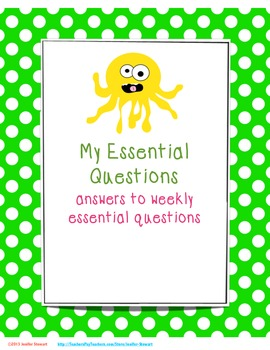 Essential Questions & I Can Statements for 3rd - 6th Grades- Polka Dots