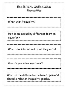 Essential Questions ISN Foldable