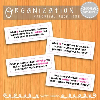 Essential Questions {Indiana EQ's for the Music Room}