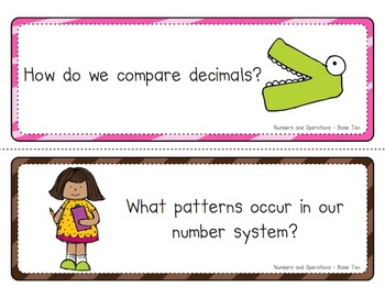 Essential Questions - Math, Grade 5, Common Core (lime, hot pink, brown)