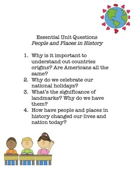 Essential Questions - People & Places in History