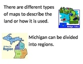 Essential Questions Poster -Michigan Mapping, Branches of Government