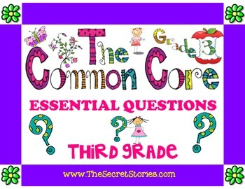 Essential Questions Posters for 3rd/ THIRD GRADE Common Core Standards!