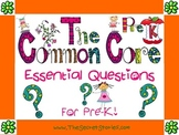 Essential Questions Posters for Pre-K/ Pre-Kindergarten Common Core Standards!