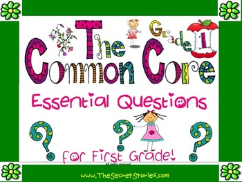 Essential Questions Posters for the First Grade Common Core Standards!