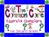 Essential Questions Posters for the Second Grade Common Core Standards!