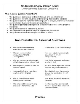 Essential Questions Professional Development