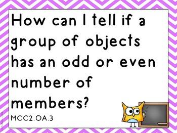 Essential Questions Second Grade Common Core Math Chevron Stripes