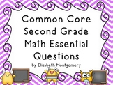 Essential Questions Second Grade Common Core Math Chevron Stripes