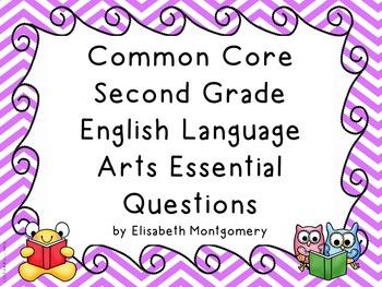 Essential Questions Second Grade English Language Arts Chevron Stripes