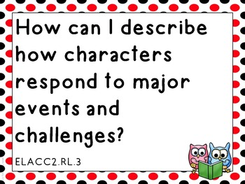 Essential Questions Second Grade English Language Arts Red and Black Dots