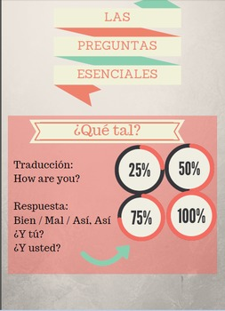Essential Questions: Spanish 1 Review, Questions and Answers