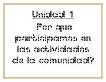 Essential Questions Units 1-10 (Spanish) Grade 1- Benchmark Adelante