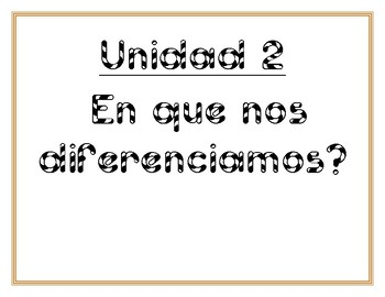 Essential Questions Units 1-10 (Spanish) Grade K-Benchmark Adelante