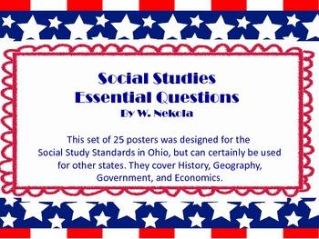Essential Questions - Third Grade Social Studies (Ohio)