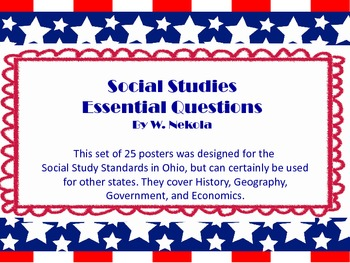 Essential Questions - Third Grade Social Studies (Ohio)
