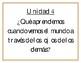 Essential Questions Units 1-10 (Spanish) Grade 4 - Benchmark Adelante