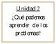 Essential Questions Units 1-10 (Spanish) Grade 2- Benchmark Adelante