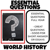 Essential Questions World History All Year