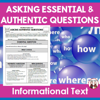 Essential Questions and Authentic Questioning Learning Activity