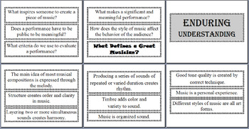 Essential Questions and Enduring Understandings for Music Classroom