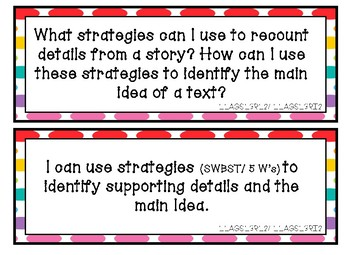 Essential Questions and I Can Statements Third Grade