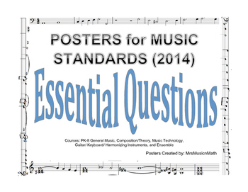 Essential Questions for 2014 National Music Standards