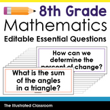 Essential Questions for 8th Grade Math