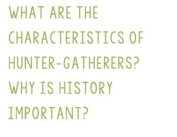 Essential Questions for Ancient History