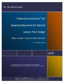 Essential Questions for Essential Elements for Band, book 1