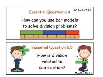 Essential Questions for Grade 3 Go Math Common Core Edition Chapters 5 - 8