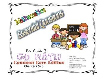 Essential Questions for Grade 3 Go Math Common Core ...