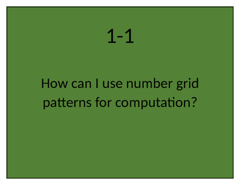EverydayMath Grade 3 2016 CCSS Version Essential Questions