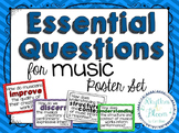 Essential Questions for Music Poster Set