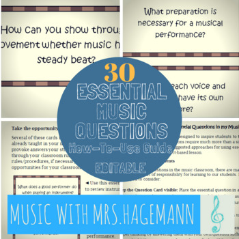 Essential Questions for the Elementary Music Classroom
