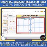 Essential Research Skills for Teens: Digital Interactive N