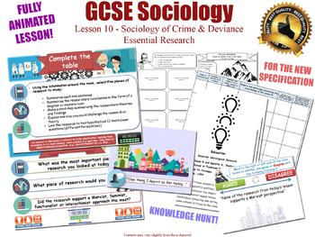 Essential Researchers - Crime & Deviance L10/20 (GCSE Sociology)